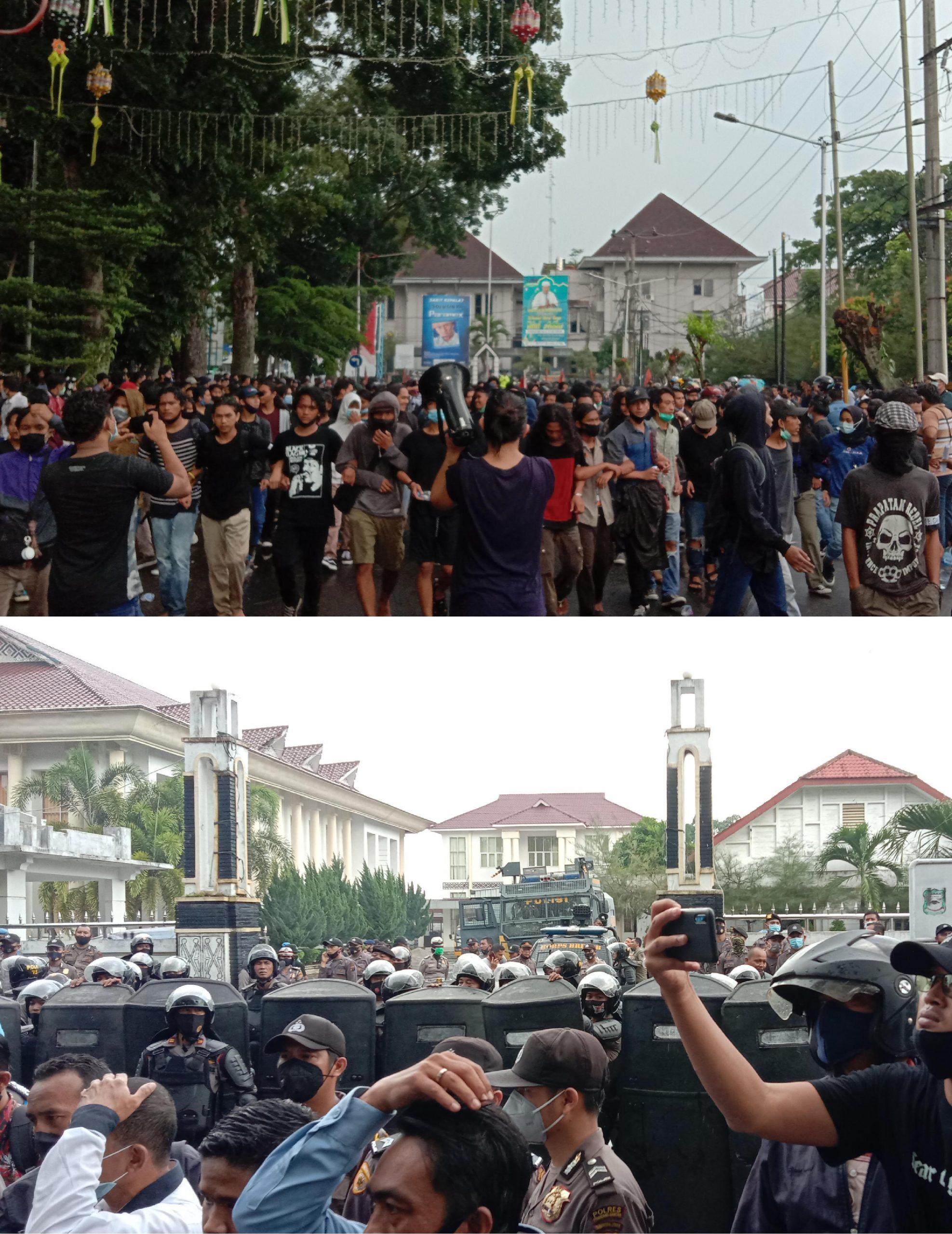 Parlemen Jalanan (Mahasiswa) Siantar Tolak omnibus law