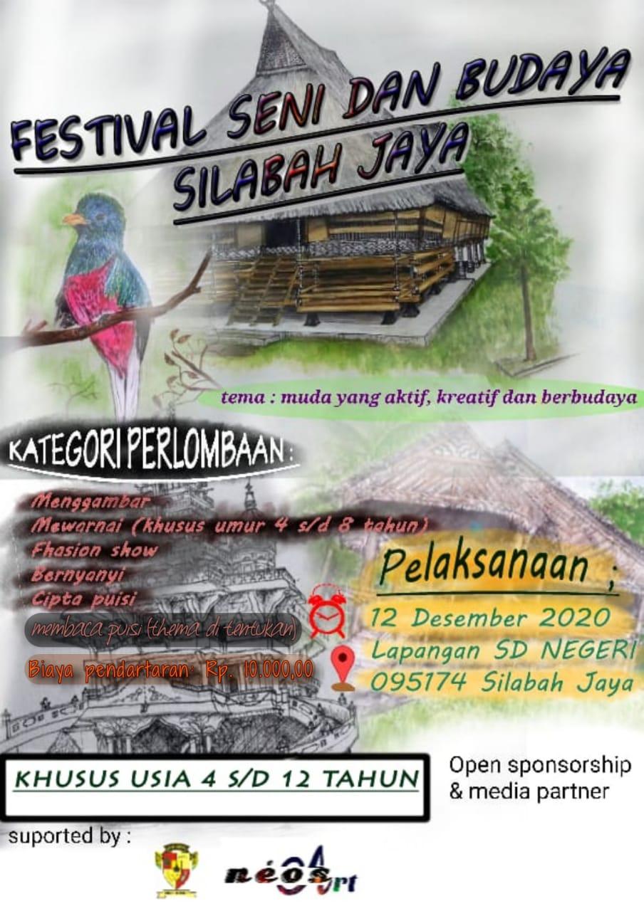 Festival Seni dan Budaya diselenggarakan oleh muda/i Desa Silabah Jaya,Kab.Simalungun