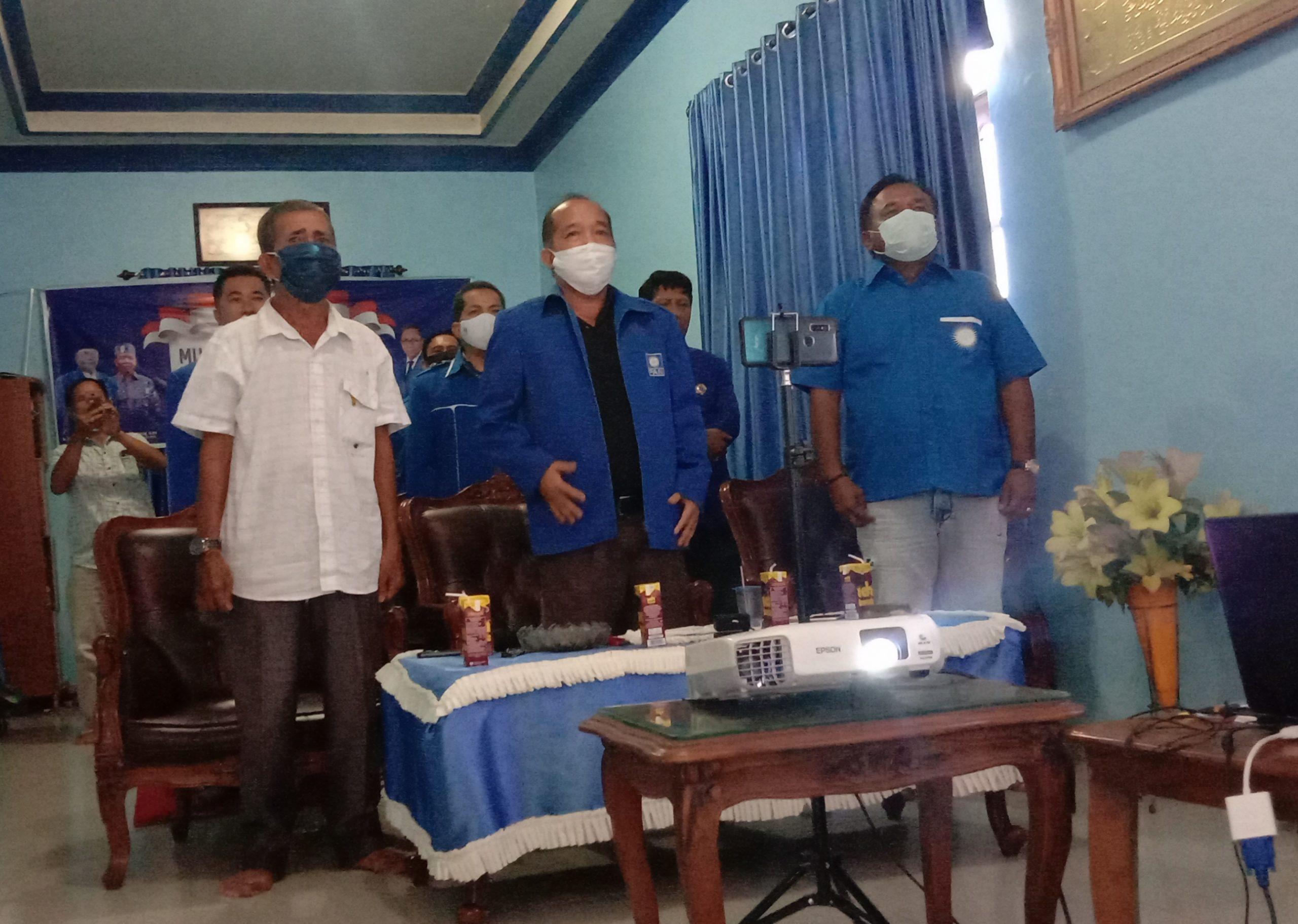 Murung Raya :  Digelar Secara Virtual Musda PAN ke V Usai, Darmaji Jabat kembali ketua DPD PAN Murung Raya .
